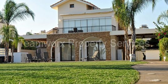 3 Bedroom Seafront Luxury Villa For Sale In Ayia Thekla, Famagusta